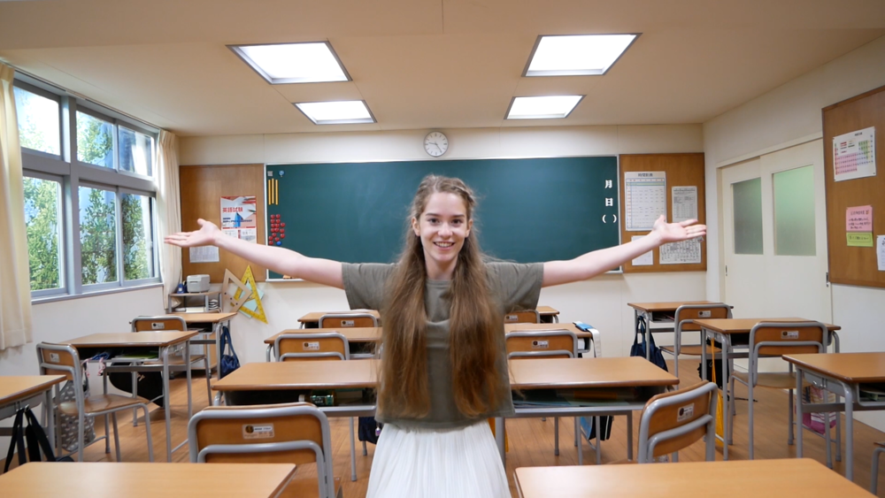 Sophie vlogs about her Japanese high school experience in DLA's  Ready to Run .