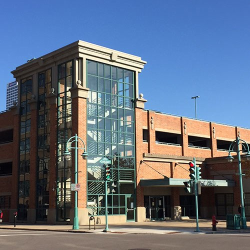 Daily off-street parking at 2 parking structures:  212 N. Milwaukee St . or  225 E. Chicago St.