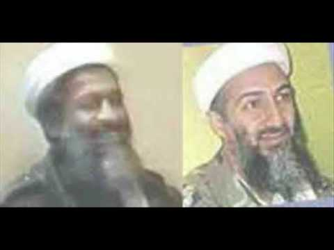 "Left: Stills from the Dec. 13, 2001 video, of the ""fatty"" Bin Laden with a short nose. RIght: The real ""Bin Laden."""