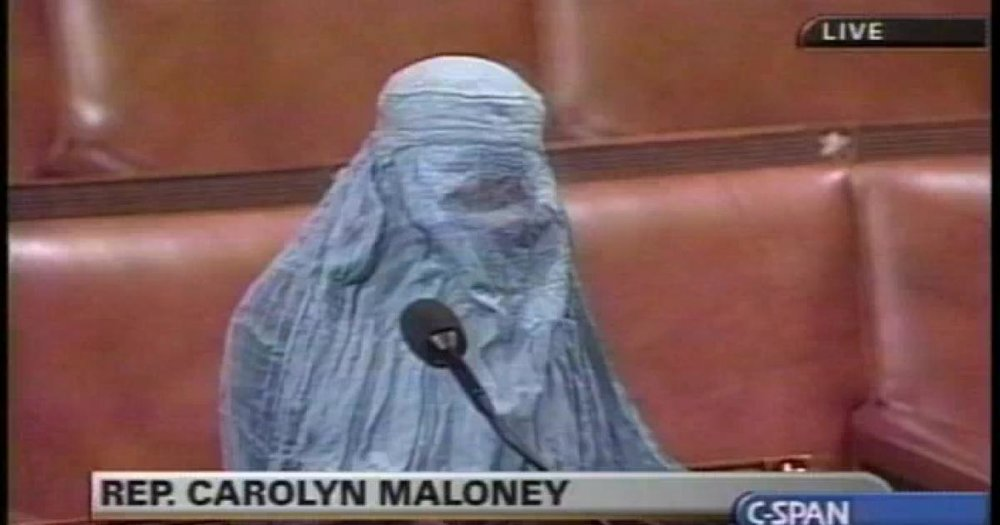 Hicks Confronts Maloney - What do you do with an Anti-Islamic Democrat in a burka?