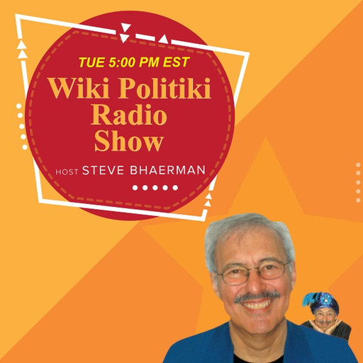 Sander with Comedian/Writer Steve Bhaerman on Wiki Politiki -