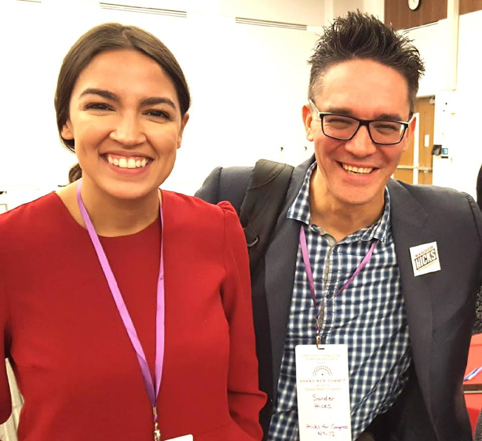 - AOC and Sander in DC, November 2017, American University, Brand New Congress conference.