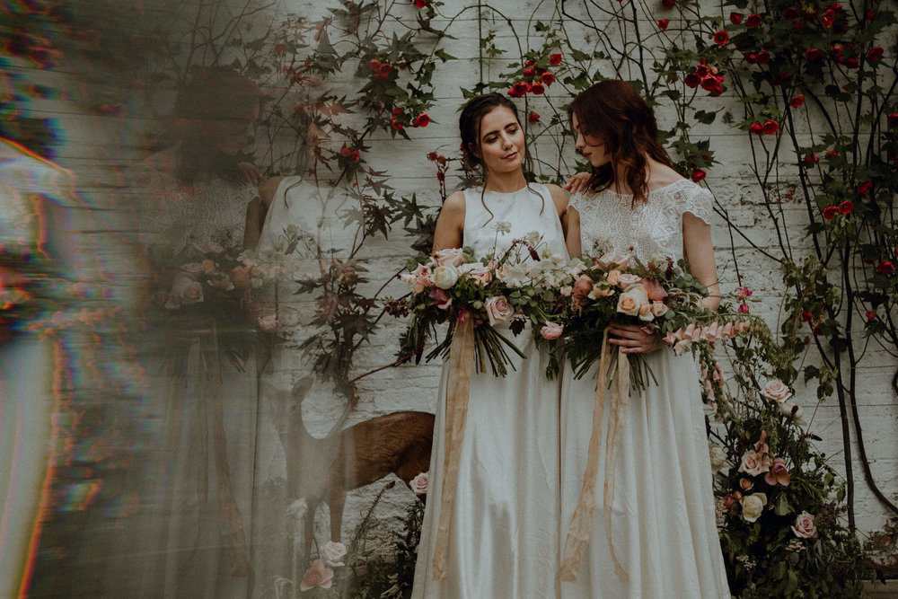 WHimsy daydreams in the walled garden - I assisted styling this springtime shoot in the dreamy Temple Newsam Walled Gardens, which was featured in Rock My Wedding! Credit: Fox & Owl Photography