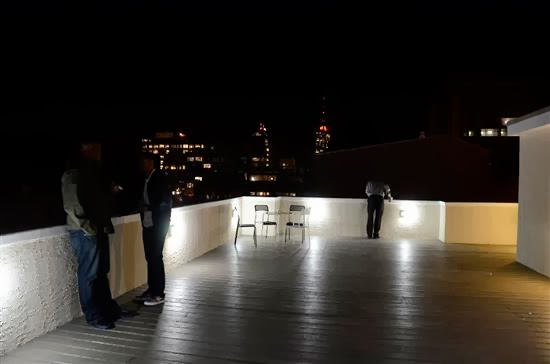 Each of the penthouse units had expansive outdoor space with city views.