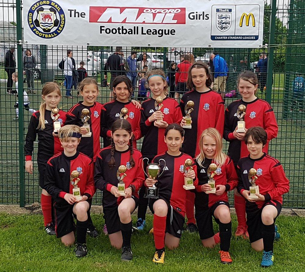 Hinksey u11 girls cup champions.jpg