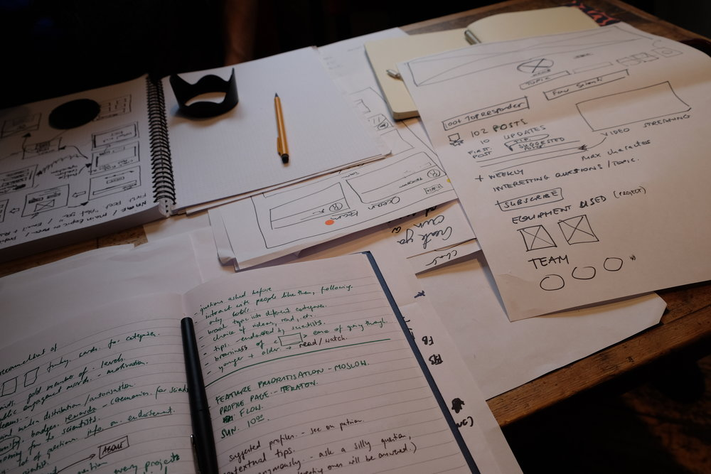 DEVELOP - At this stage solutions or concepts are created in a design studio. They are prototyped, tested and iterated.