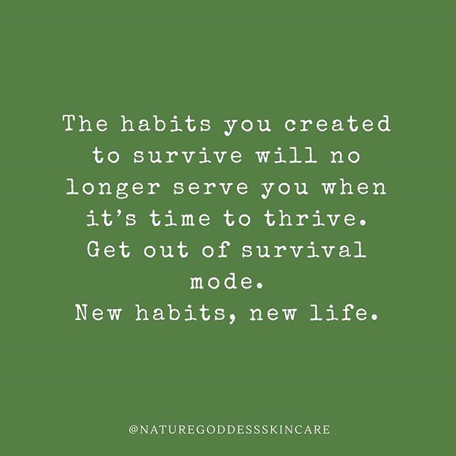 This really resonated with me. I realized lately that I spend a lot of time in survival mode, but that is not going to help me truly thrive. Do you find yourself getting stuck in survival mode? . . . . . . . . . . #naturegoddess #naturegoddessskincare #motivationmonday #quote #qotd #quotes #words #typography #quoteoftheday #inspire #inspiring #motivation #happiness #quotestoliveby #quotesdaily #quotesoftheday #instaquote #quotestagram #lifequotes #dailyquotes #wordsofwisdom #lifelessons #thoughtoftheday #positivequotes #inspiringquotes #quotesandsayings #ecobeauty #crueltyfree #organicskincare #naturalskincare @preview.app
