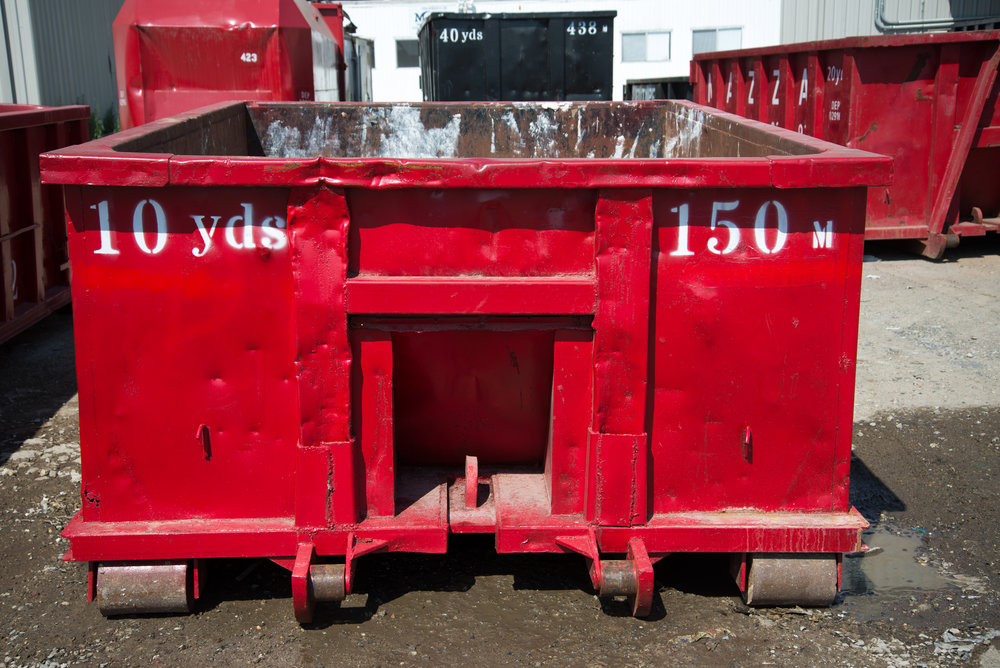 10 Yard Container - 11 ft. x 8 ft. x 4 ft. -10 cubic yards