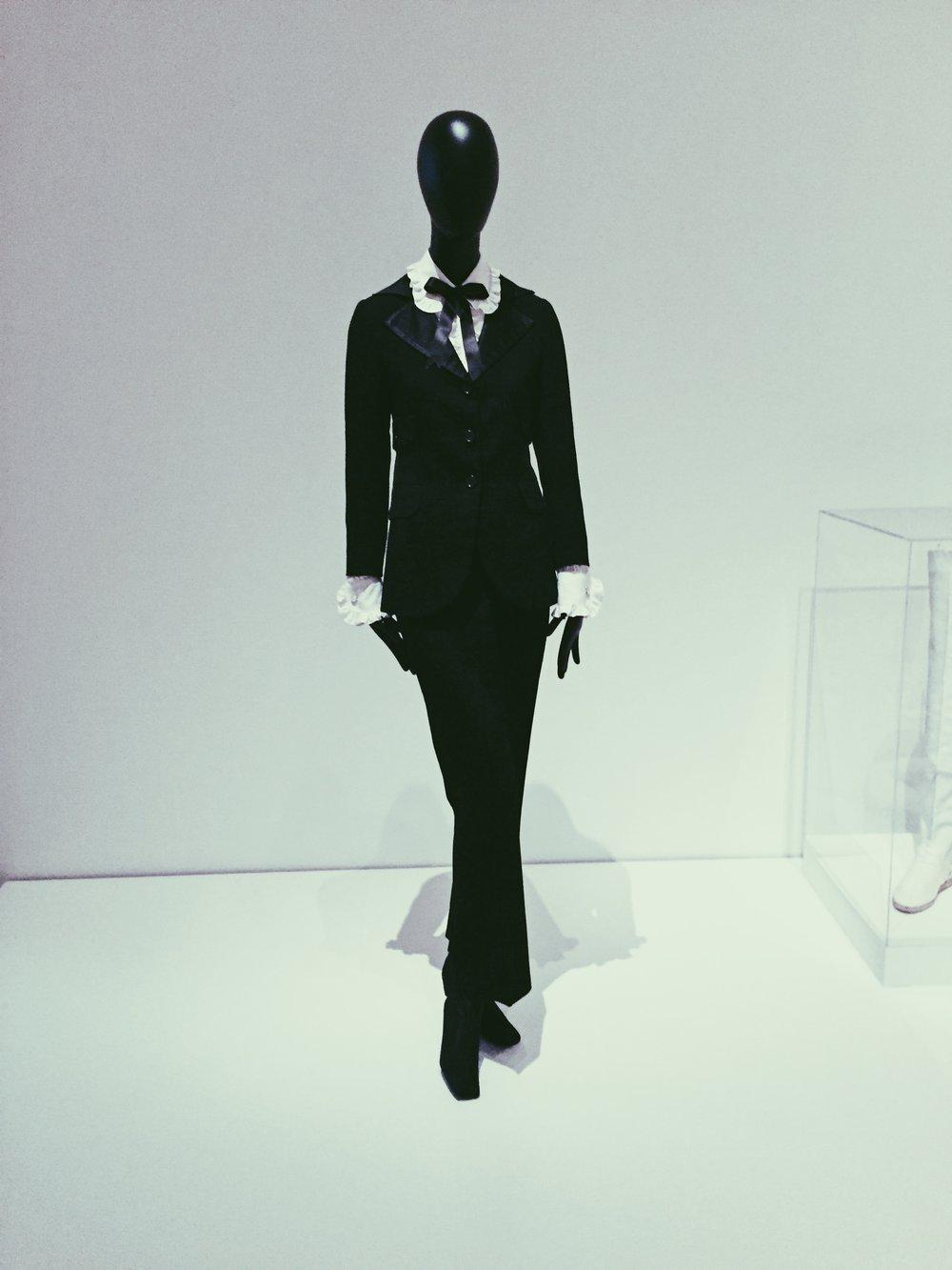 The black suit by Ives Saint Laurant