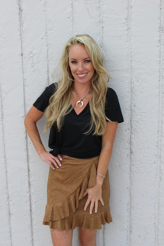 Ruffled Skirt with Black Tee