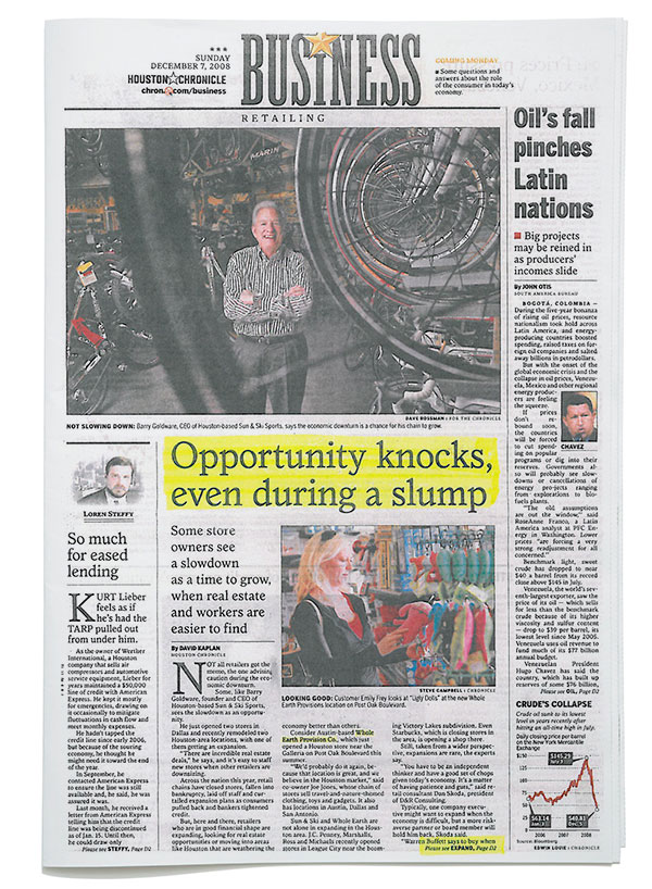 Houston Chronicle - Opportunity Knocks