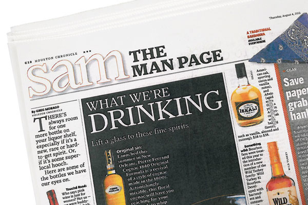 Houston Chronicle - The Man Page – What We're Drinking: Lift a Glass to these Fine Spirits