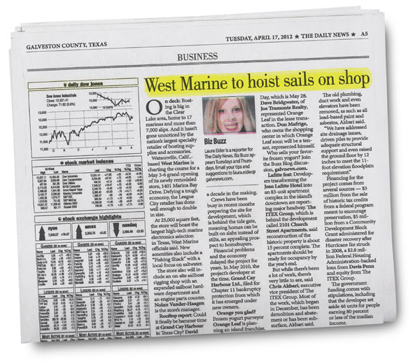 The Daily News - West Marine to Hoist Sails on Shop