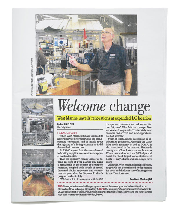 The Daily News - West Marine Unveils Renovations at Expanded LC Location