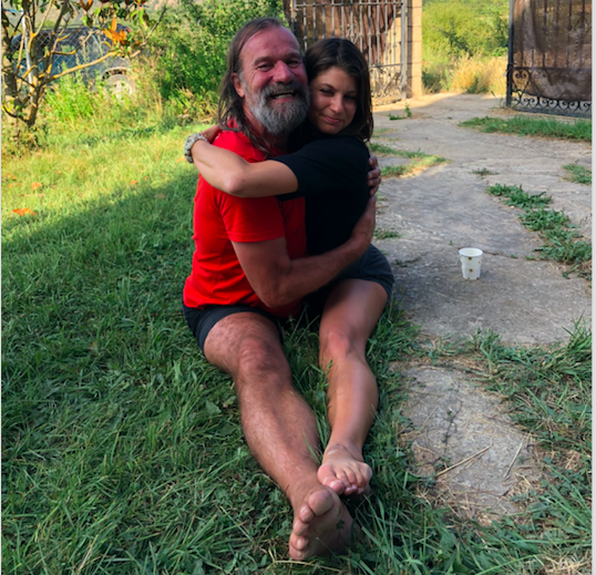 Because a normal hug just won't cut it when you're with Wim Hof.