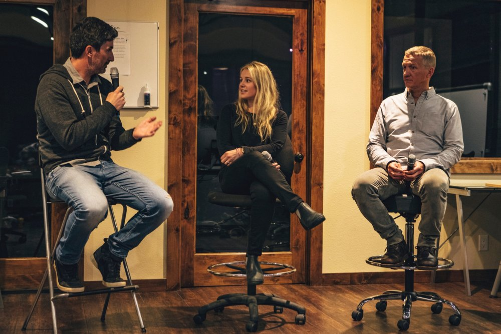 26. Dirk Collins and Caroline Gleich live in Jackson, WY - Dirk Collins - TGR Cofounder and President/Founder One Eyed BirdCaroline Gleich - Professional ski mountaineer and Founder Big Mountain Dreams Foundation
