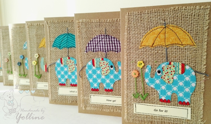 Fabric Greeting Cards -