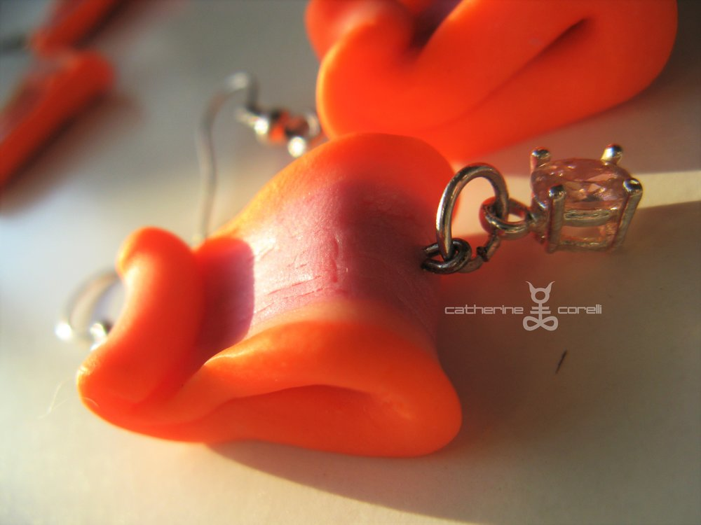 Cuore Pompelmo Candy Petali (2016) earrings by Catherine Corelli