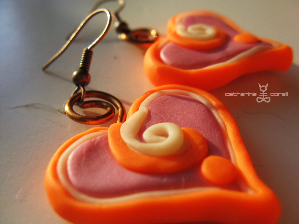Cuore Pompelmo Candy Piccolo (2016) earrings by Catherine Corelli