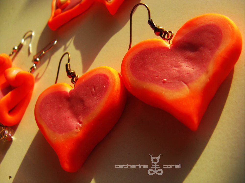 Cuore Pompelmo Candy Spessa (2016) earrings by Catherine Corelli