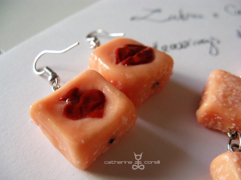 Labri & Cuori Cappucino (2016) earrings by Catherine Corelli