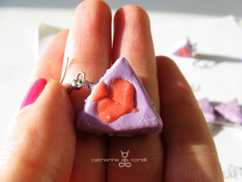 Labri & Cuori Tatto (2016) earrings by Catherine Corelli
