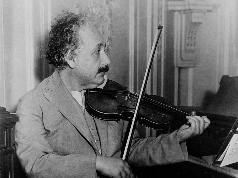 Einstein engaging in 'combinatory play'