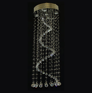 Spiral chandeliers bohemian crystal chandeliers lighting collection expansion aloadofball Image collections