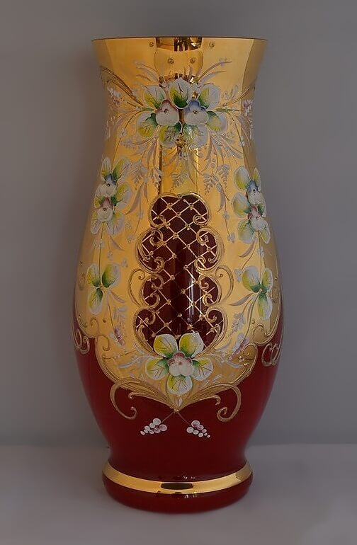 Hand decorated vase