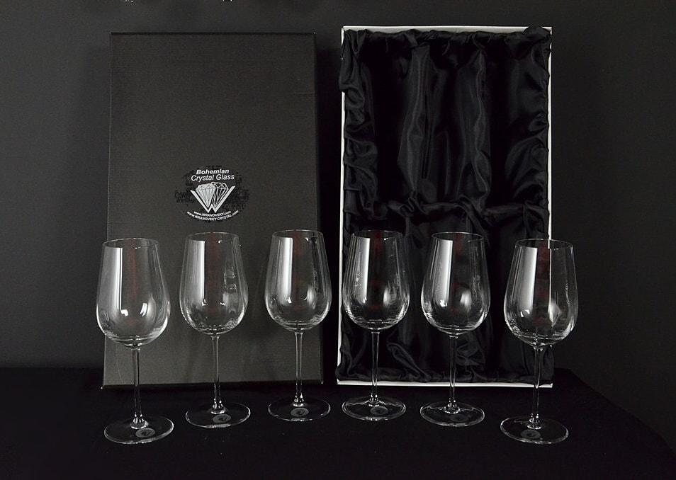 Decorative glass of white wine - 6 pieces