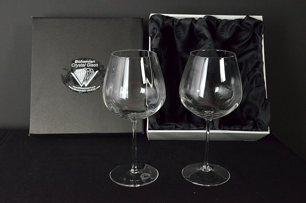 Decorative glass of red wine - 2 pieces