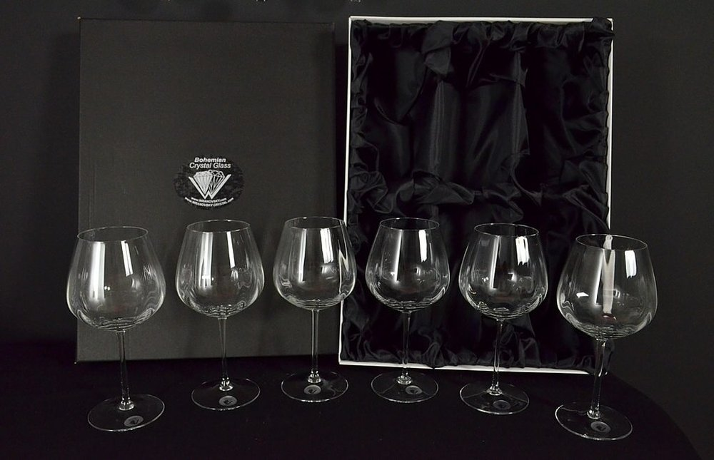 Decorative glass of red wine - 6 pieces