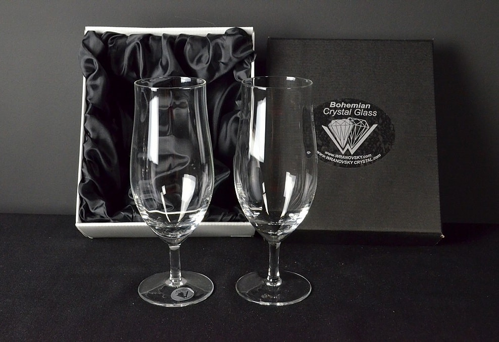 Decorative glass for beer - 2 pieces