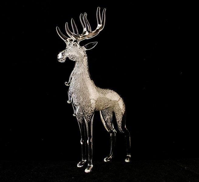 Glass figures - deer