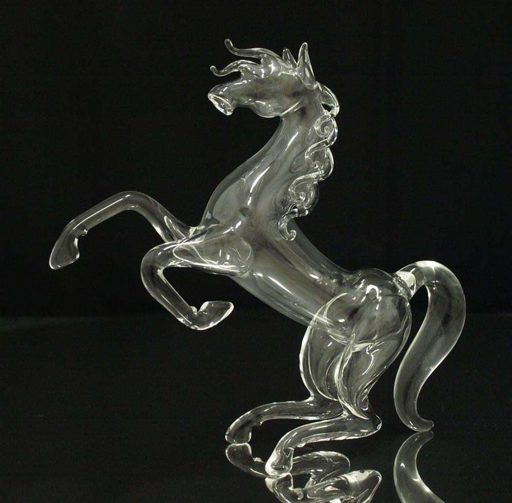 Glass figure - mustang