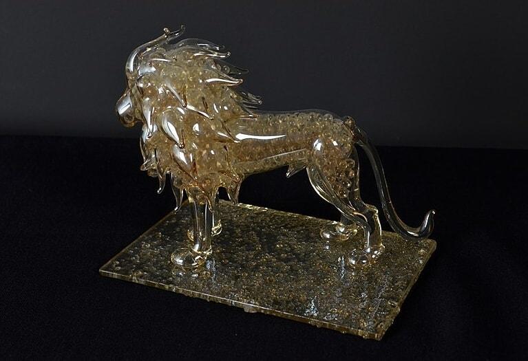 Glass figurine - Lion