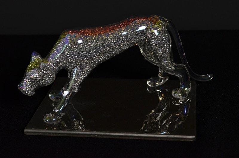 Glass figure - puma