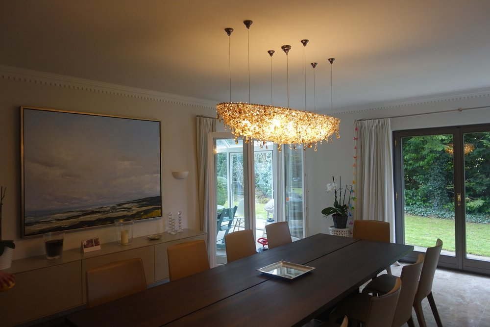 Modern Crystal Chandeliers For Dining Table