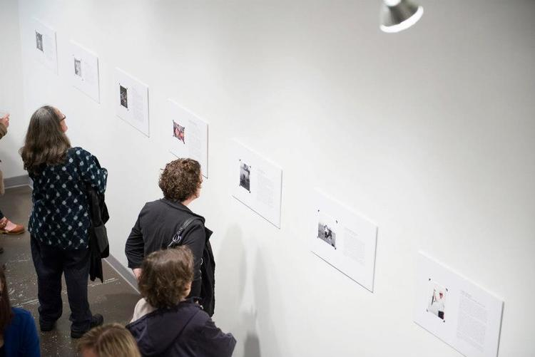 Exhibition opening at Newspace Center for Photography (April 2013)