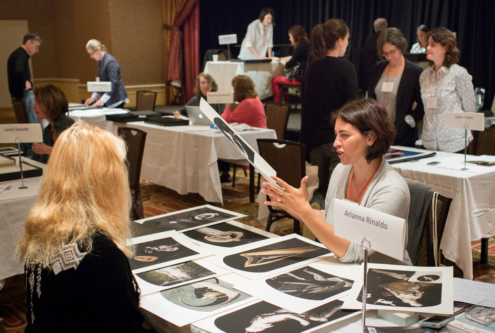 Photolucida 2015, reviewing room at the Benson Hotel