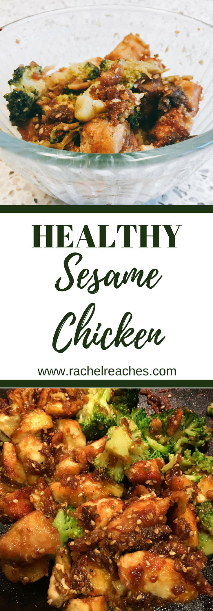 Sesame Chicken Pinterest Pin - Healthy Recipes.png