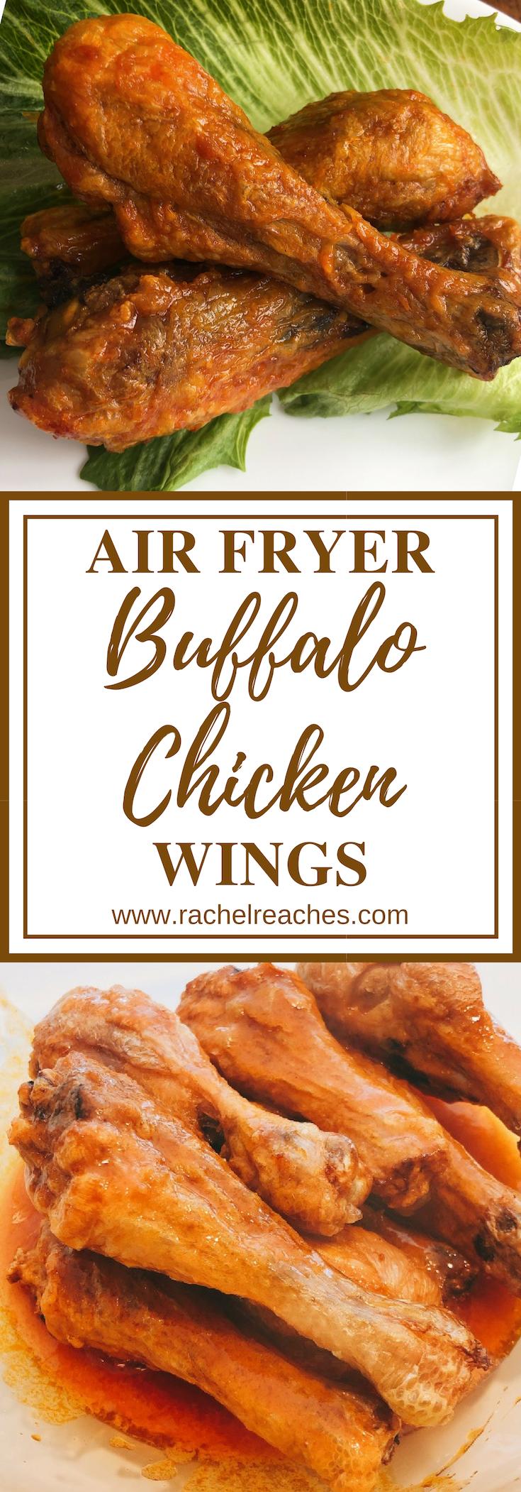 Air Fryer Chicken Wings Pin - Healthy Eating.png