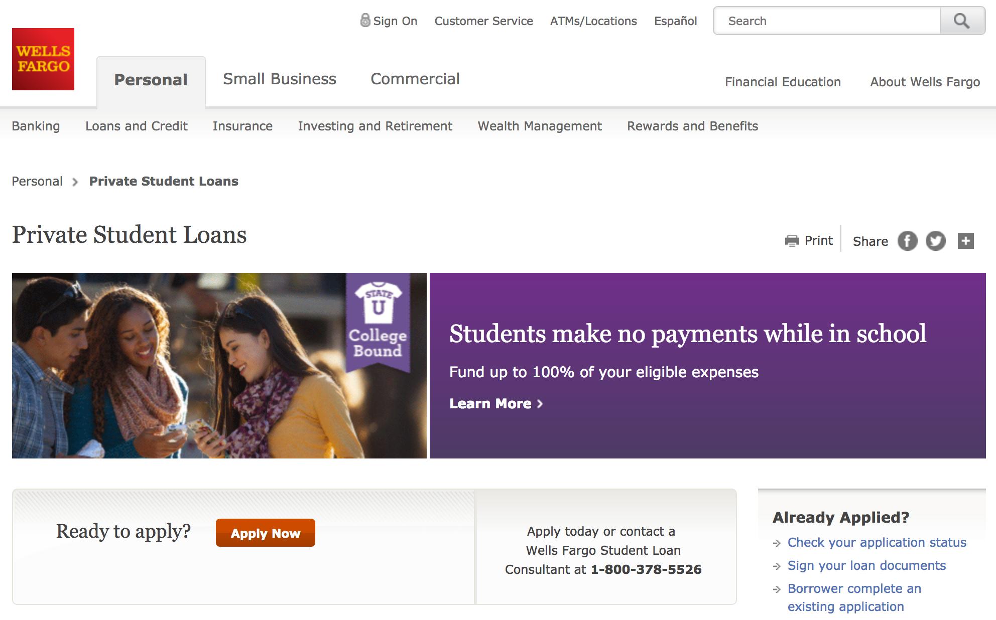 Student Loan Application Wells Fargo Steven Wirt