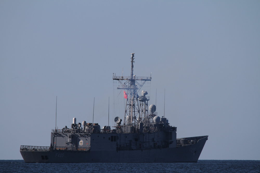 One of the many military vessels spotted during the Joint Warrior survey.