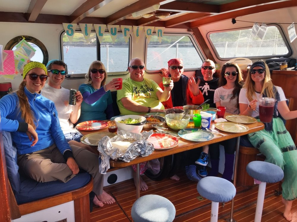 Celebrating summer solstice on board Silurian