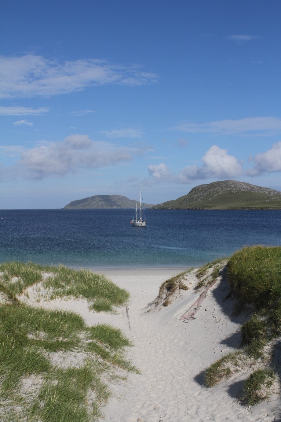 Outer Hebrides or the Caribbean?! Our beautiful anchorage at Vatersay