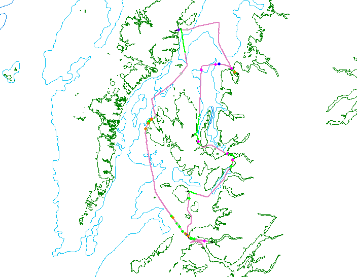 Track lines for the spring Joint Warrior survey