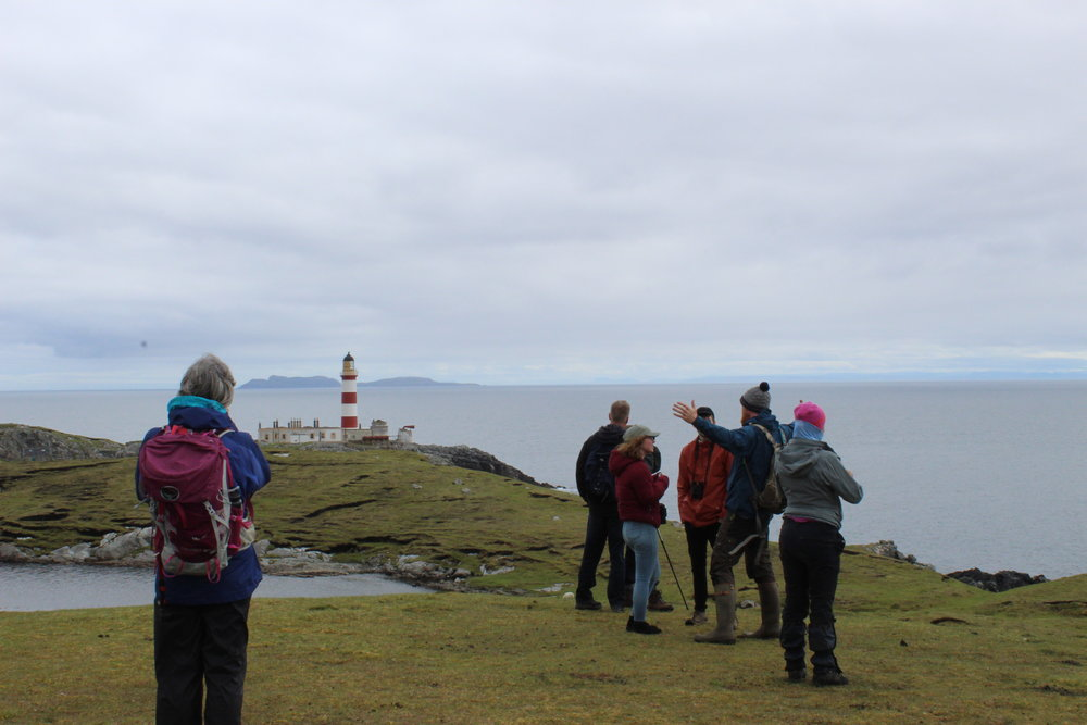 Headland watch from Ardnamurchan Lighthouse run by Hebridean Whale Trail Officer Siobhan Moran for National Whale and Dolphin Watch week