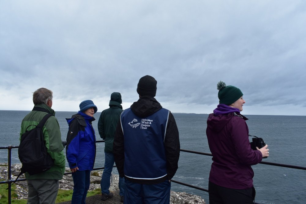 Craig on Sunday's whale watch...unfortunately no fins that day but plenty of dedicated watchers!
