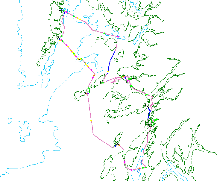 Track lines for HWDT08